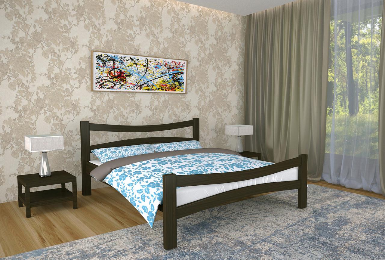 Двуспальная Кровать из дерева сосна 160*190 Деметра MECANO цвет Венге 9MKR015
