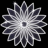 """Светодиодный LED мотив """"Цветок"""" Ø100cm"""
