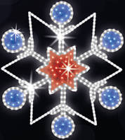 "Светодиодный LED мотив ""Снежинка"" Ø120cm"