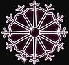 "Светодиодный LED мотив ""Снежинка"" Ø200cm"
