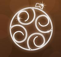 """Светодиодный LED мотив """"Новогодний"""" Ø120cm"""