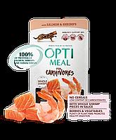 Optimeal (Оптимил) консерва для дорослих кішок З лососем і креветками в соусі 85 г/12шт