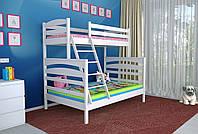 Двухъярусная кровать Деревянная массив сосны 120х80х200 Кай MECANO цвет Белый 12MKR016