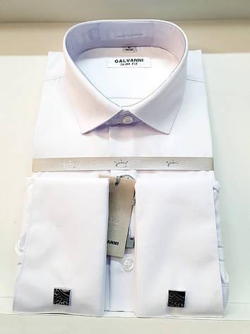 Сорочка для чоловіків білого кольору Galvani, фото 2