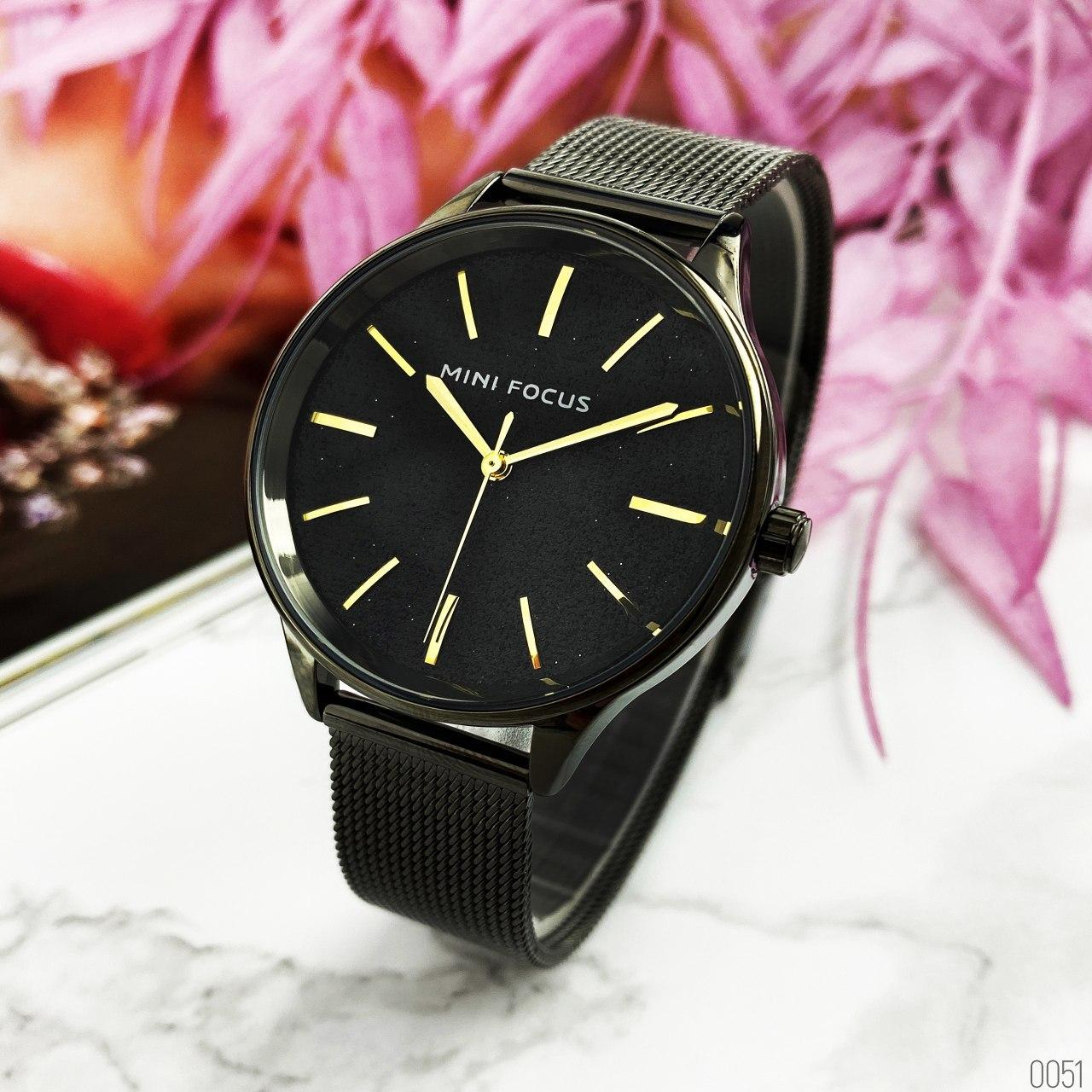 Часы женские Mini Focus MF0044L.03 All Black Shine AB-1095-0051