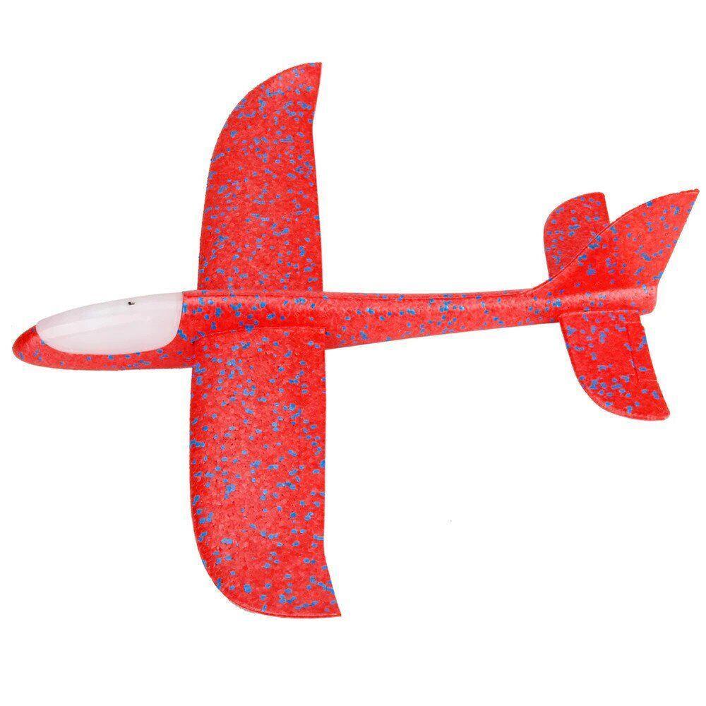 Детский Самолетик для метания Планер 49см, светящийся красный