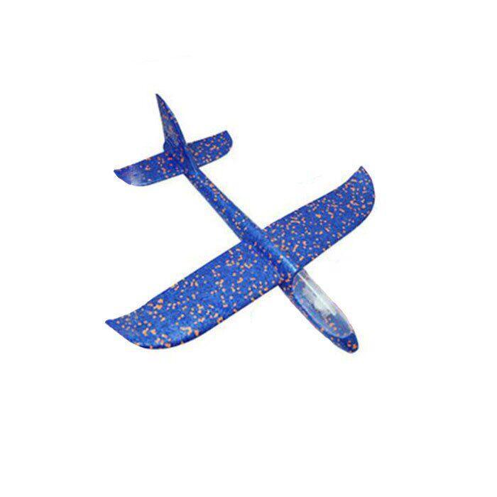 Детский Самолетик для метания Планер 49см светящийся синий