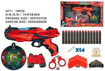 Бластер FJ011 бинокль наручники снаряды мишень