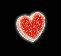 """3D светодиодная фигура """"Сердце"""" 80X80cm"""
