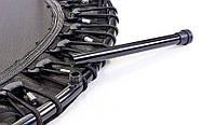 Фитнес-батут с одинарной ручкой круглый 45in RECORD FI-6393 (металл, крепление жгуты, d-114,5см, черный-серый), фото 9