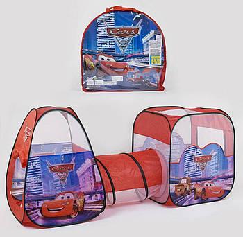 Палатка с туннелем Машинки 8015 C (24/2) 270 х 92 х 92 см, в сумке