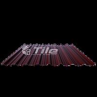 """Профнастил Кровельный Н -20 """"Тайл"""" RAL 8017 (коричневый) PEMA 0,5 мм"""