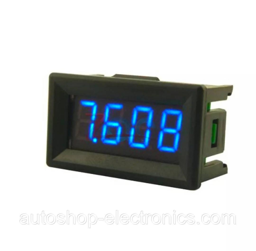 Высокоточный цифровой автомобильный ВОЛЬТМЕТР 12 В - 24 В (4-х разрядный, до 100 В, 40 x 23 мм)