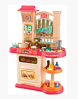 Детский игровой набор интерактивная кухня большая Bozhi Toys 838B свет звук вода холодный пар посудка