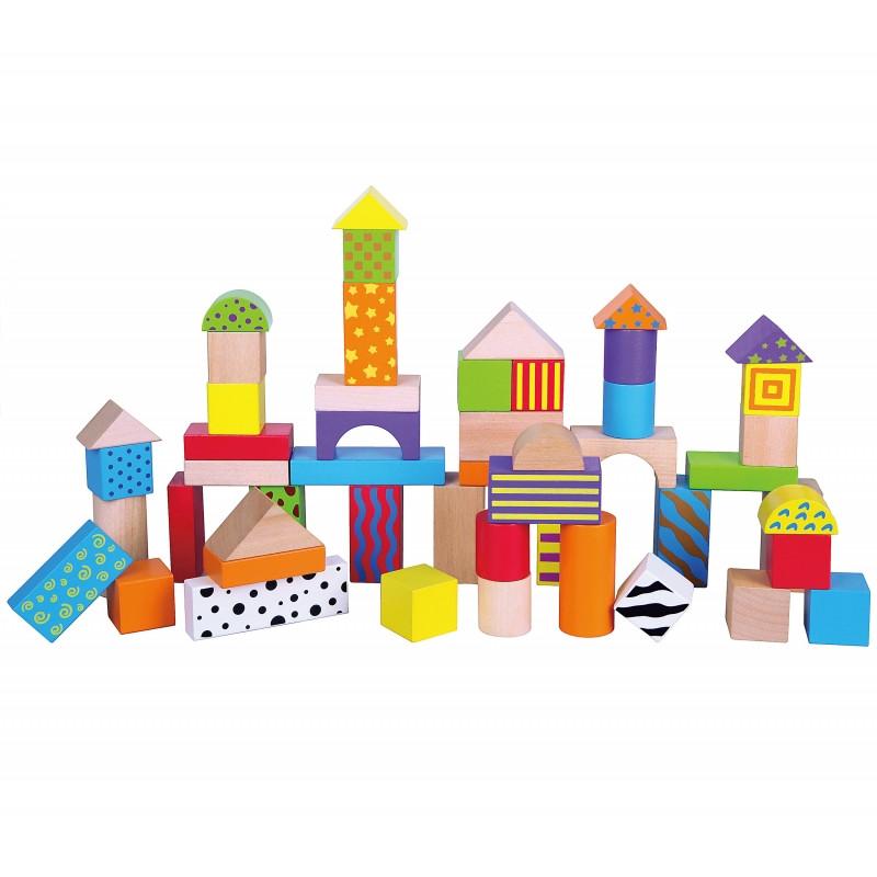 Кубики деревянные в ведре 50 шт Viga 59695