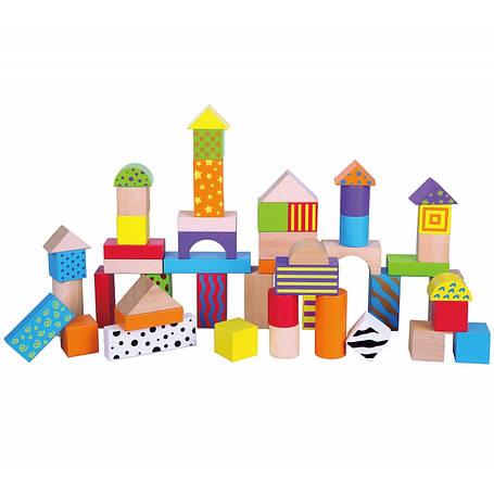 Кубики деревянные в ведре 50 шт Viga 59695, фото 2