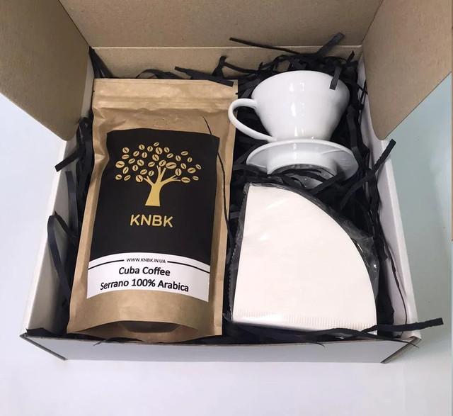 Подарочный набор Кофе/Фильтр/Пуровер белый (полипропилен)