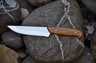 Кухонный нож для мяса с дубовой рукоятью, 40Х13, 24см, фото 2
