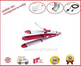 Утюжок для волос плойка Kemei  ZFQ-KM-1291