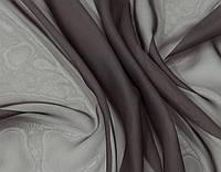 Готовые Шторы комплект для спальни из легкой ткани вуаль ШОКОЛАД  4м.