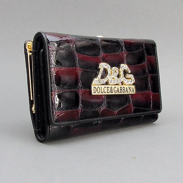Гаманець жіночий маленький шкіряний 131-10840 лаковий чорний з бордовим відливом