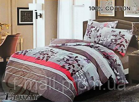 Комплект постельного белья ELWAY (Польша) Сатин полуторный (5071)