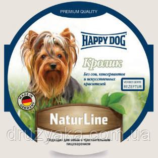 HappyDog консервований корм у вигляді паштету для собак з кроликом, 85 г