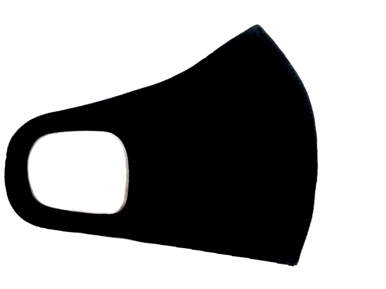 Маска лицевая защитная универсальная черная