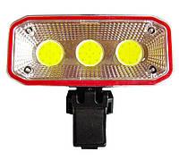 🔝 Велофара, фонарь на велосипед Сова СВ-963 400lm красный, фонарик для велосипеда (велосипедный) фара   🎁%🚚