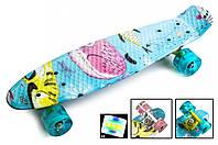 Скейтборд, Пенни борд Penny Board Cool cat Светящиеся колеса до 80кг (SD)