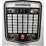 Професійна потужна мультиварка для будинку Crownberg CB-5523 | Пароварка | Скороварка | Багатофукціональна, фото 3
