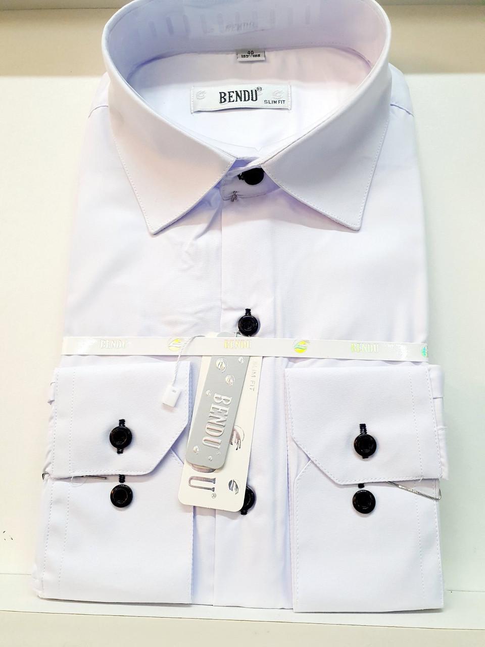 Сорочка Bendu біла з довгим рукавом - Про-717