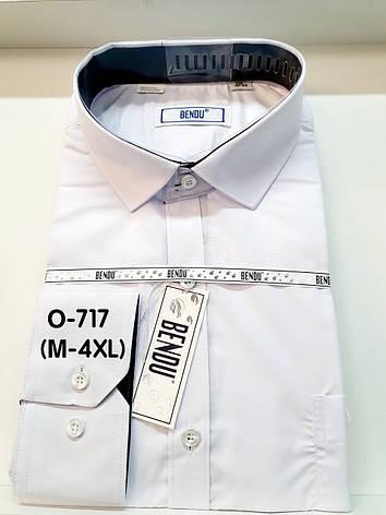 Сорочка Bendu біла з довгим рукавом - ПРО-717 (M-4XL), фото 2