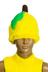 Карнавальна шапка Груша Лимон