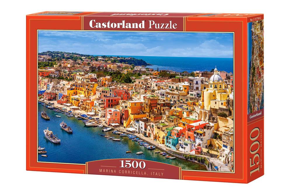 Пазлы Порт Коричелла, Неаполь, Италия 1500 элементов Castorland