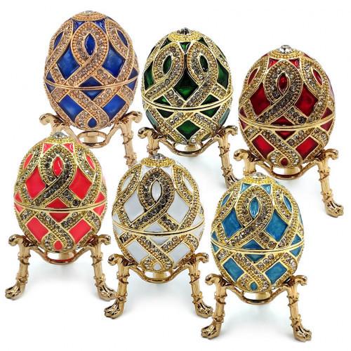 Декоративная шкатулка яйцо под Фаберже