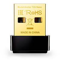 Беспроводной Wi-Fi адаптер USB AC600 200-433M TP-Link Archer T2U Nano новый