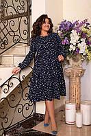 МИ297 Стильное женское платье батал 50-60 рр