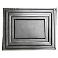 Форма для парапета на забор Ступени 450*580*100 мм + форма-полусфера в подарок, фото 1