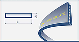 Ремень 140х7-3250 Lw Stomil Plus (Польша), фото 2