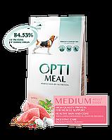 Optimeal Сухий корм для дорослих собак середніх порід - з індичкою 4 кг