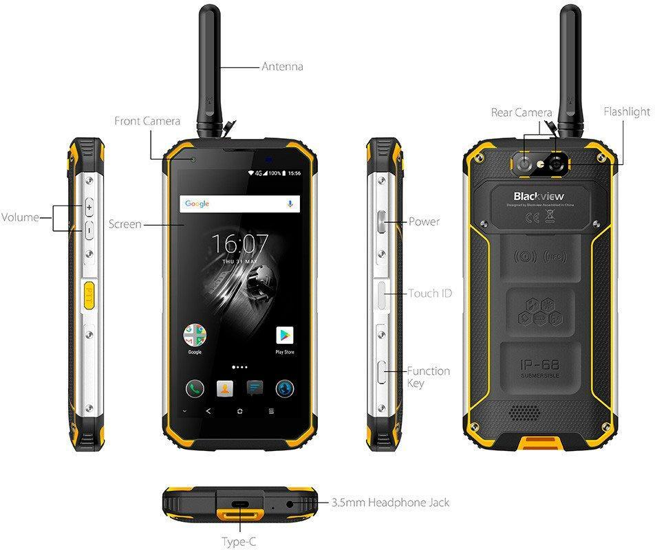 Смартфон Blackview BV9500 Pro yellow РАЦИЯ
