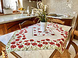 """Наперон\дорожка на стол  """"Маки"""", 45х140 см, фото 4"""