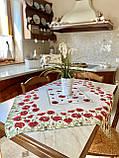 """Наперон\дорожка на стол  """"Маки"""", 45х140 см, фото 5"""