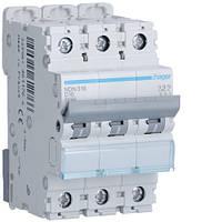 Автоматический выключатель 3п, D-16А, 10 kA, 3м Hager
