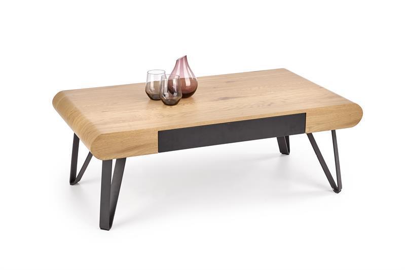 Журнальний стіл MARINA золотий дуб (110х60х39) Halmar