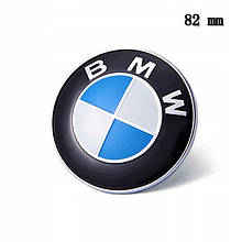 "Эмблема ""BMW"" 82мм \ Пластик \ 2 Пукли \ На Капот"