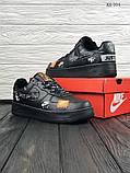 Мужские весенние кожанные кроссовки Nike Air Force 1 LV8 черные, фото 5