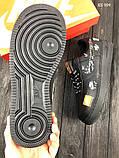 Мужские весенние кожанные кроссовки Nike Air Force 1 LV8 черные, фото 6