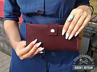 Кошелек женский клатч чехол для телефона 100% кожа handmade, фото 1